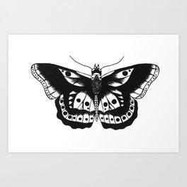 Butterfly tattoo Art Print