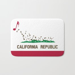 Musical Flag of the State of California Bath Mat