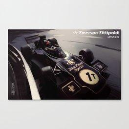 Emerson Fittipaldi - Lotus 72D Canvas Print