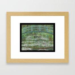 Claude Monet, Japanese Footbridge over the Water Lily Pond Framed Art Print