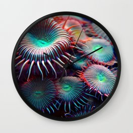 Colorful Anemone Under Sea Photo Wall Clock