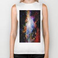 galaxy Biker Tanks featuring GaLaXY : Orion Nebula Dark & Colorful by GalaxyDreams