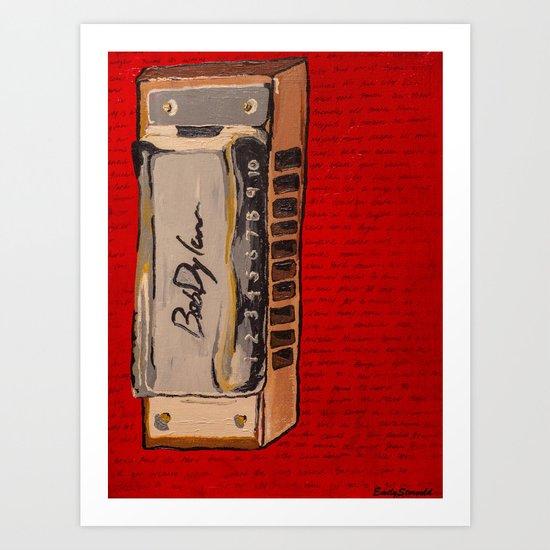 Bob Dylan's Harmonica  Art Print