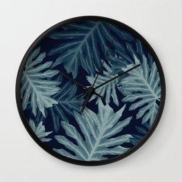 Philo Hope - Tropical Jungle Leaves Pattern #5 #tropical #decor #art #society6 Wall Clock