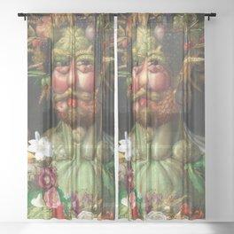 Rudolf II as Vertumnus by Giuseppe Arcimboldo, 1591 Sheer Curtain