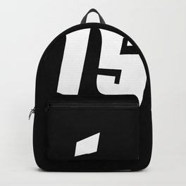 Life is easy white on black background Backpack