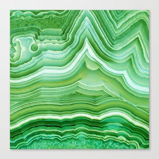Agate crystal green Canvas Print