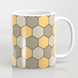 Honeycombs op art beige Coffee Mug