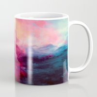 solid color Mugs featuring Reassurance by Caleb Troy