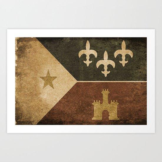 Acadian Flag Art Print