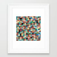 quilt Framed Art Prints featuring Quilt by Tye Cottage Shop