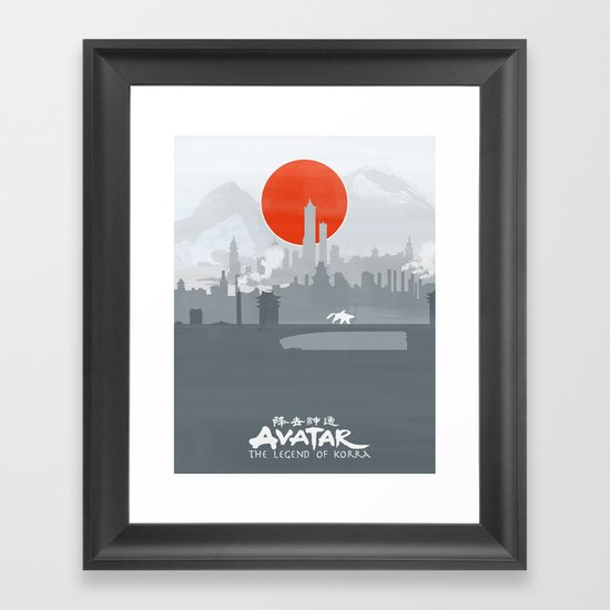 Avatar The Legend of Korra Poster Framed Art Print