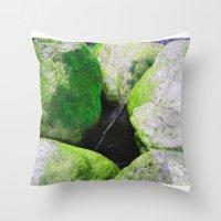 moss Throw Pillows featuring Moss by Darkest Devotion