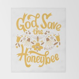 God Save the Honeybee Throw Blanket