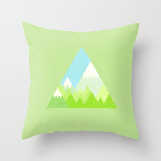 national park geometric pattern Throw Pillow by Emma Method Society6