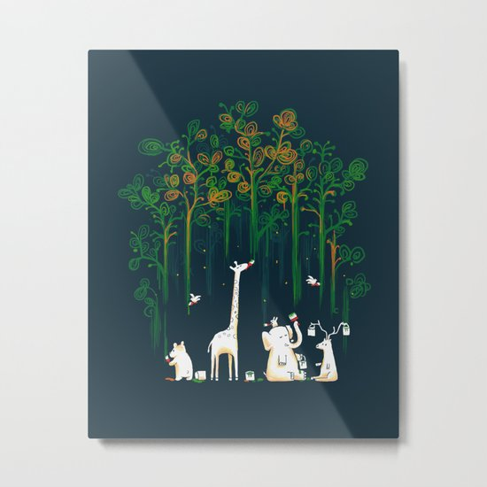 Re-paint the Forest Metal Print