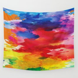 Watercolor Summer Wall Tapestry