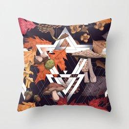 Fall Foliage Shape Throw Pillow