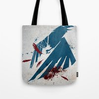 infamous Tote Bags featuring inFamous Second Son Good Karma by Kyrsten Carlson