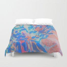 Blue Petal Surge Duvet Cover