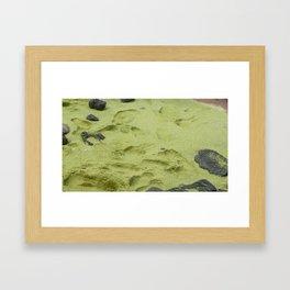 Green Sand Framed Art Print