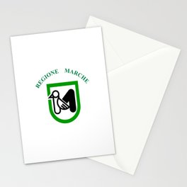 flag of marche Stationery Cards