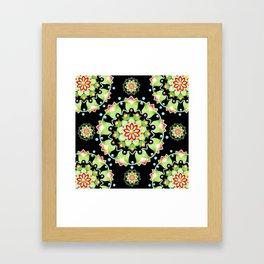 Firework Mandala Framed Art Print