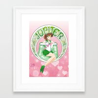 sailor jupiter Framed Art Prints featuring Sailor Jupiter by Neo Crystal Tokyo