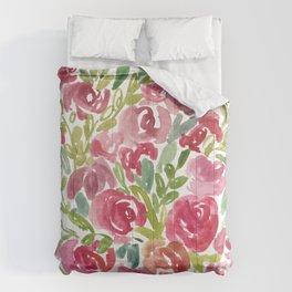 Maya's Garden Watercolor Painting Comforters