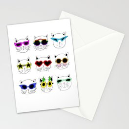 Cool Cats Stationery Cards