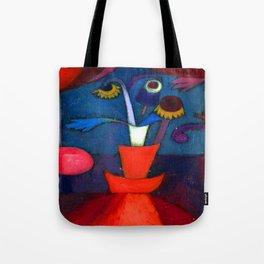 Paul Klee Autumn Flower Tote Bag