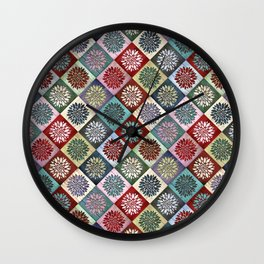 Colored Wood Pattern 3 Wall Clock
