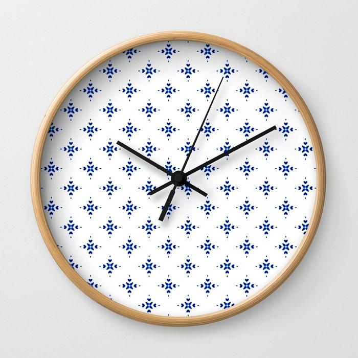 Shibori Watercolour no.8 Wall Clock