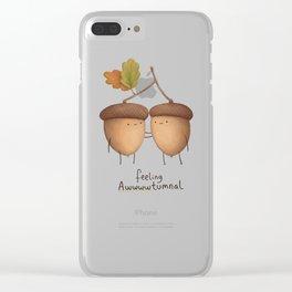 Feeling Awwwwtumnal Clear iPhone Case