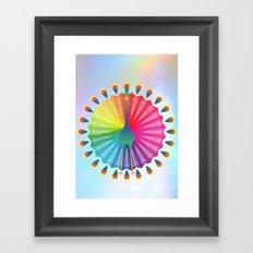 Rainbow Peacock Framed Art Print