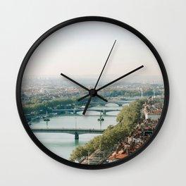 Sunrise over Lyon Wall Clock