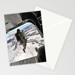 Special Forces Airborne into snowy terrain Stationery Cards