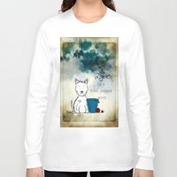westie Long Sleeve T-shirts featuring Love is a Four Legged Word ~ Westie ~ West Highland White Terrier by Ginkelmier