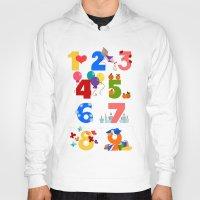numbers Hoodies featuring numbers by Alapapaju