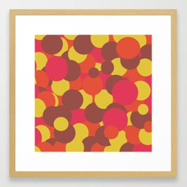 Autumn Retro Circles Design Framed Art Print