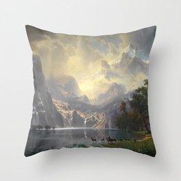 Among the Sierra Nevada California by Albert Bierstadt, 1868 Throw Pillow