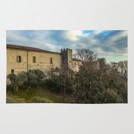 Castle in a cloudy sky Rug