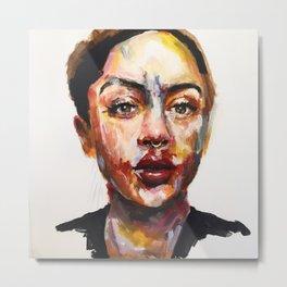 Print of Portrait in Acrylic Metal Print