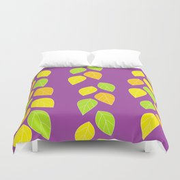 violet leaves Duvet Cover