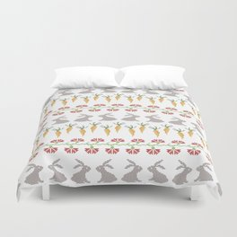 Bunnies and carrots  1 Duvet Cover
