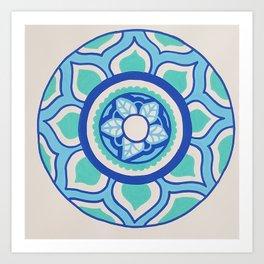 The Blue Mandala Art Print