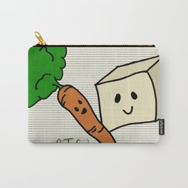 {Carrots & Tofu} Carry-All Pouch
