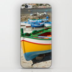 Yellow wooden boat iPhone & iPod Skin