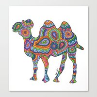 camel Canvas Prints featuring Camel  by Shanaabird