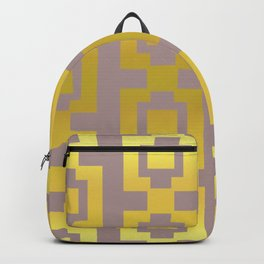 Gold and grey pattern Backpack
